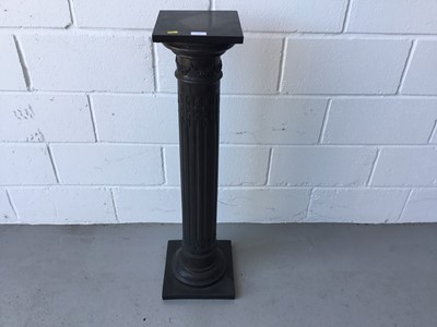 Lot 11-Reproduction bronzed resin Corinthian column torchere, 103cm in height