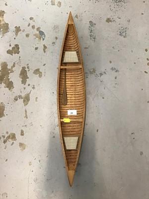 Lot 23-Scratch built model canoe