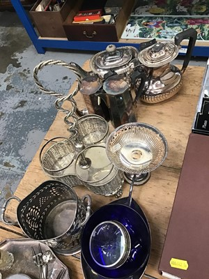 Lot 15-Collection of various silver plate