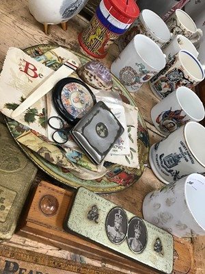 Lot 36-Group of Royal Commemorative items to include ceramic and enamel beakers from Victoria and later monarchs (qty)