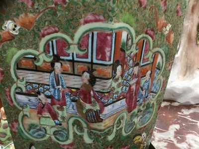 Lot 27-Large Canton vase and cover