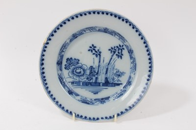Lot 30-18th century blue and white tin glazed plate