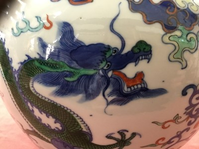 Lot 13-Good quality Chinese porcelain Doucai jar