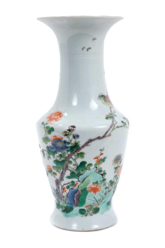Lot 4 - Chinese famille verte porcelain baluster vase
