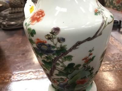 Lot 4-Chinese famille verte porcelain baluster vase