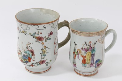 Lot 5-Two Chinese 18th/19th century famille rose...