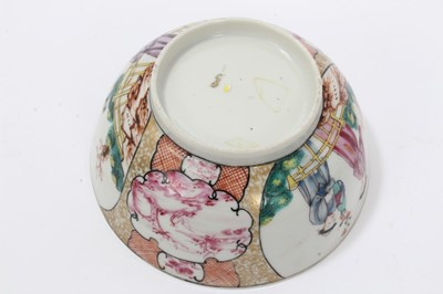 Lot 7-Two Chinese famille rose bowls and similar milk jug