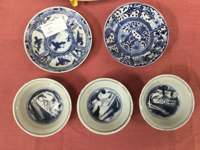 Lot 10-Group of Chinese blue and white porcelain