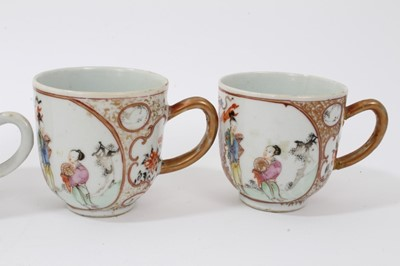 Lot 11-Eight various 18th century Chinese coffee cups