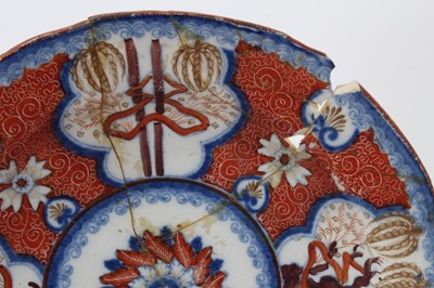 Lot 36-Regency pearlware glazed tablewares, decorated in a variation of the Dollar pattern (7 pieces)