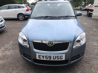 Lot 1-2009 Skoda Fabia 1.6 petrol, Automatic, Reg. No. EY59 USG, 11,302 miles, finished in grey, MOT until 18th September 2020, supplied with V5 and history file