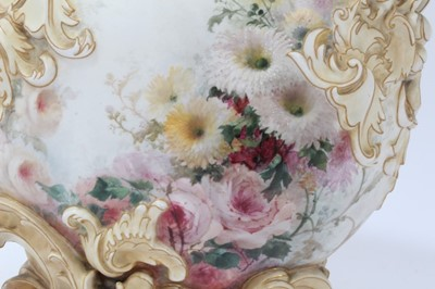 Lot 49-Doulton exhibition quality blush ivory vase