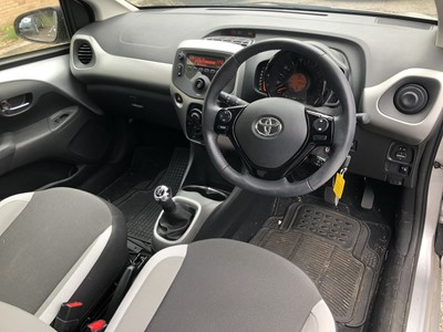 Lot 2-2017 Toyota Aygo X-Play VVT-I 1.0 petrol, Manual, Reg. No. EO17 KVH, 4,041 miles, finished in silver, MOT until 29th September 2020, supplied with V5, history file and two keys