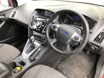 Lot 3-2013 Ford Focus 1.6 petrol, Automatic,  Reg. No. EK13 NNL , mileage circa 30,000, finished in red, MOT until 9th November 2020, supplied with V5, history file and two keys