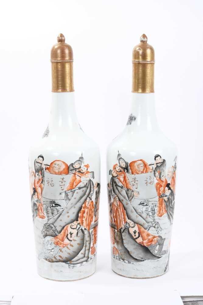 Lot 15-Pair Chinese Republic vases