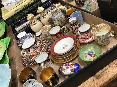 Lot 18-Selection of decorative china to include Royal Crown Derby teacup and saucer, together with Herend floral potpourri scent trinket box,  and other named china