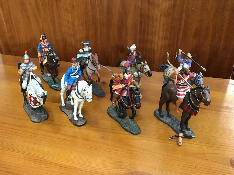 Lot 19-Set of eight Delprado men on horse back, including Chasseur d'Afrique