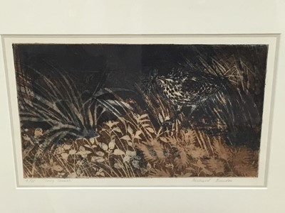 Lot 3-Signed limited edition Richard Bowden etching - 'Song Thrush' 4/25
