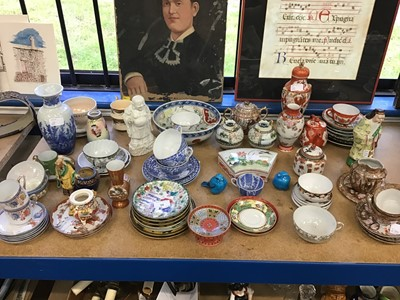 Lot 38-Group of mostly 20th century oriental china to include teaware and figures