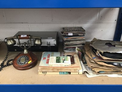 Lot 41-Group of various singles together with some Gramophone records and sundries (qty)