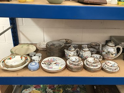 Lot 40-Collection of Japanese Egg shell teawares, together with other decorative ceramics together with telephone, books and sundries