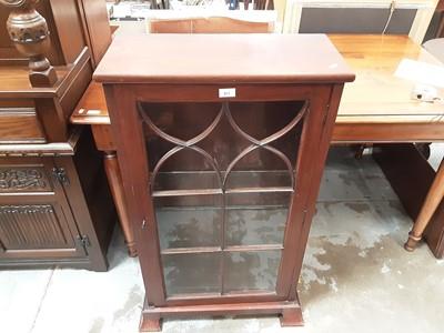 Lot 25 - 19th century mahogany bookcase with single astragal  glazed door