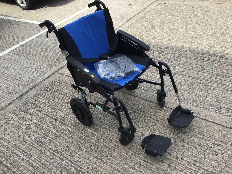 Lot 5-Folding wheelchair