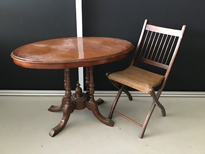 Lot 8-Victorian mahogany loo table with oval inlaid...