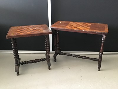Lot 6-Victorian mahogany inlaid games table on...