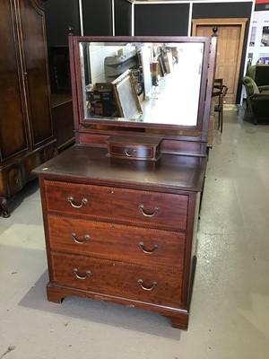 Lot 28 - Edwardian mahogany inlaid dressing chest