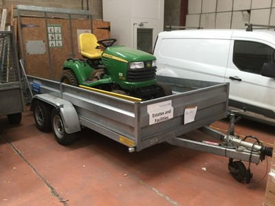 Lot 1-Wesbroom Trailers twin axel plant trailer with hinged loading ramp, Serial No. 1682113, 3000 KG gross weight
