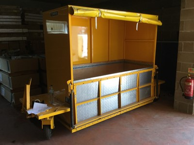Lot 11-Towrite Fabrications bespoke made Dropwell Trailer, manufactured 17/08/07, Gross weight 1300kg