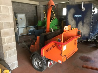 Lot 12-Timberwolf TW20 /125H Wood Chipper, serial no. 20303005, date of manufacture 06/03