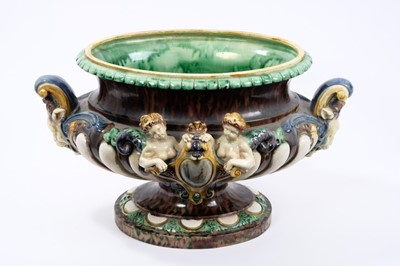 Lot 22-Majolica table centre