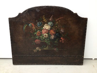 Lot 92 - leather painted headboard