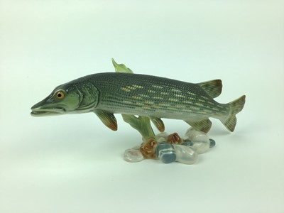Lot 2-Goebel model of a Pike numbered 35803 11, 25.5cm