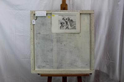Lot 29 - Ron Sims (1944-2014) oil on board - Dessert Nativity c.1966