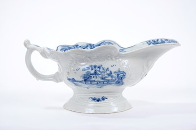 Lot 5-Worcester blue and white sauceboat