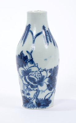 Lot 8-Chaffers Liverpool blue and white miniature vase