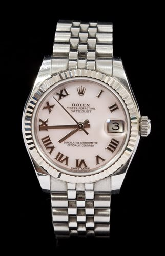 Lot 781-Ladies' Rolex Oyster Perpetual Date Just...