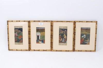 Lot 63 - Group of four Indo-Persian manuscript illuminations