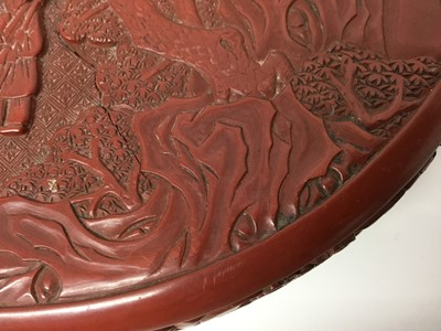 Lot 281 - Chinese cinnabar lacquer box and cover