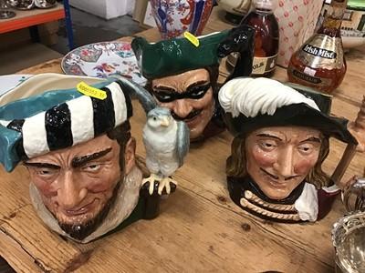 Lot 12-Three Royal Doulton character jugs (3)
