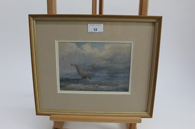 Lot 12-Framed and glazed marine painting, 19th century