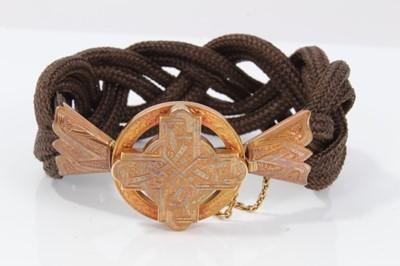 Lot 13-Victorian mourning bracelet