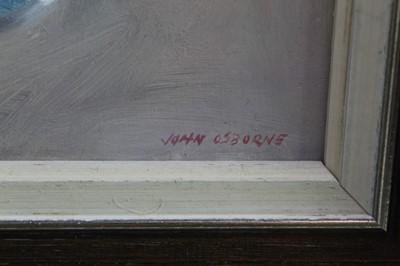 Lot 9-John Osborne framed oil on board - still life