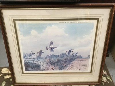 Lot 9-John Cyril Harrison (1898-1985) three signed prints, racing print, two sporting cartoons and two prints of clowns (8)
