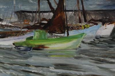 Lot 23-James Forsyth framed marine oil