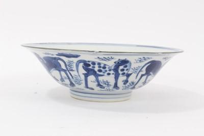 Lot 91 - Chinese blue and white bowl, six-character Jiajing mark