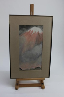 Lot 17-Pair of pastels by Daphne Reynolds (1918-2002) 'In the shadows of mount fungi' signed in glazed frames 39cm x 20cm, (Reynolds was a founder member of Gainsborough's house print workshop) together w...